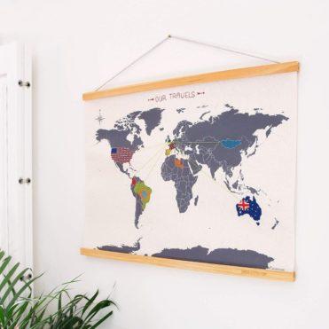 Mapa Mundo De Punto De Cruz