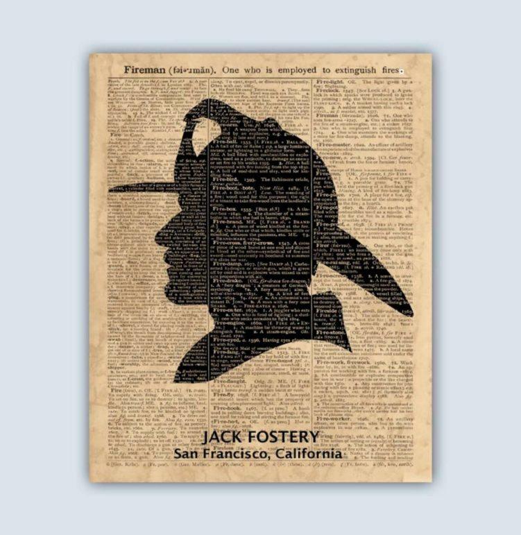 Poster personalizable con diseño de bombero